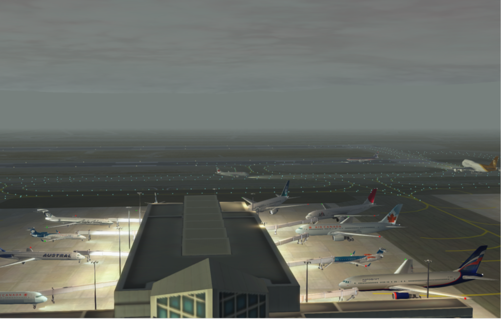 KLAX Aircraft with Lights