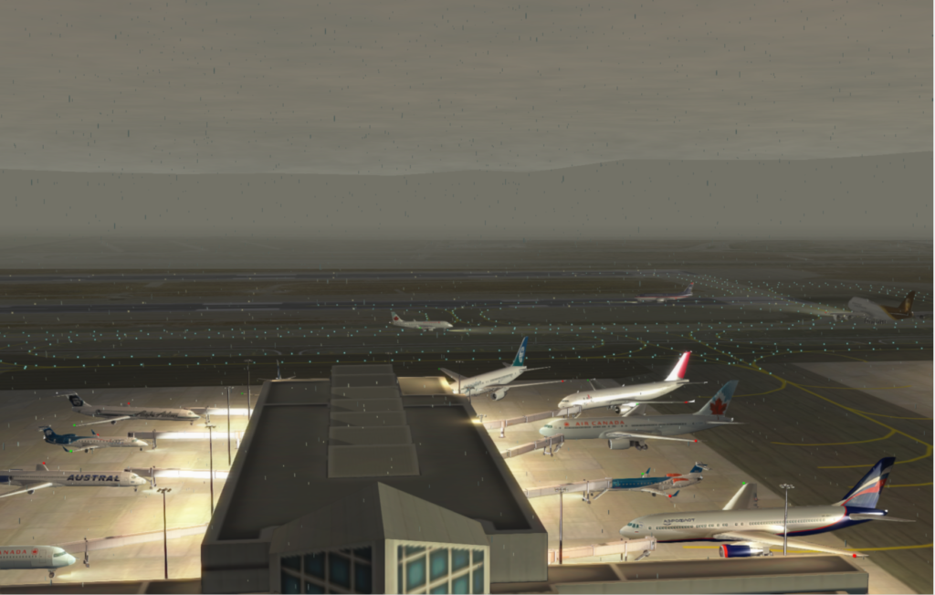KLAX Fog and Lighting