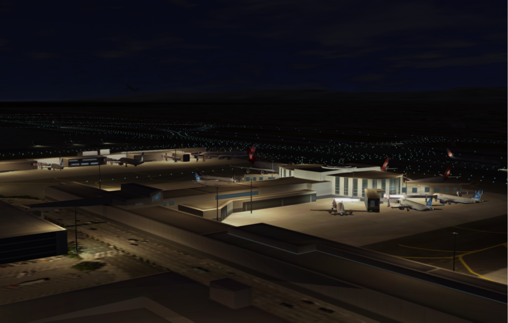KLAX Night Take Off