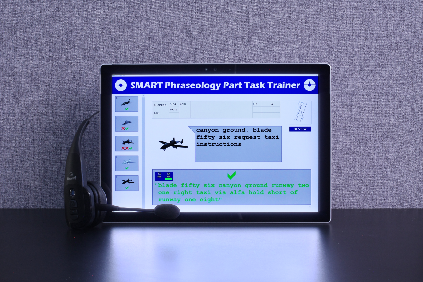 SMART Part Task Trainer - Phraseology Trainer